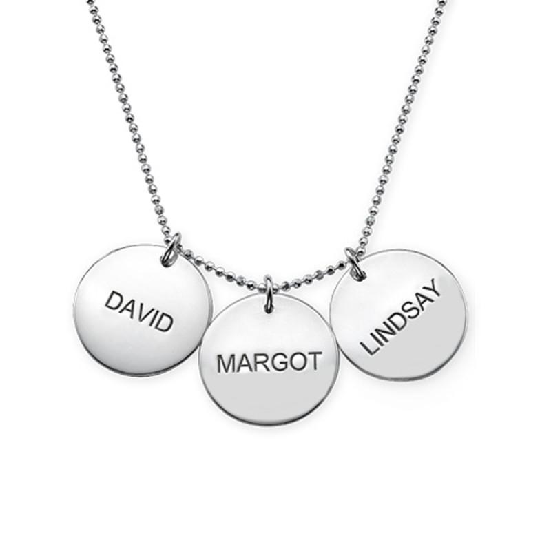 Una joya para Mamá - Collar Personalizado con Disco de Plata - 3
