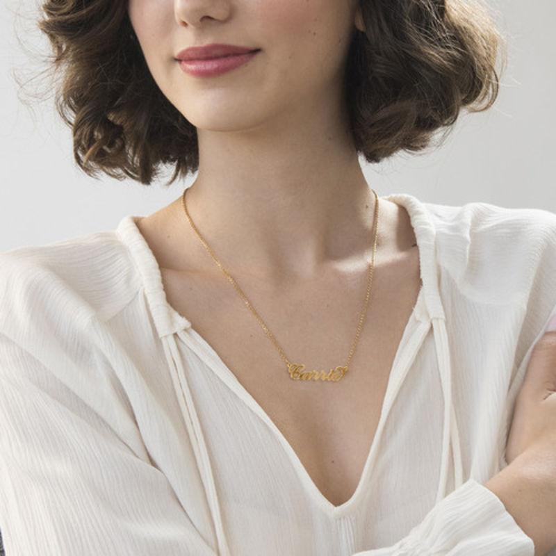 """Collar con nombre estilo """"Carrie"""" en oro Vermeil - 2"""