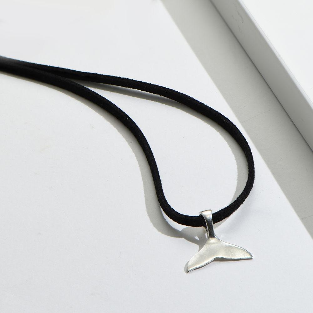 Collar Cola de Ballena en plata - 2