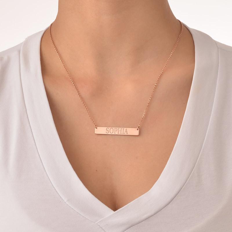 Collar de Barra Grabado en chapa de oro Rosa - 1