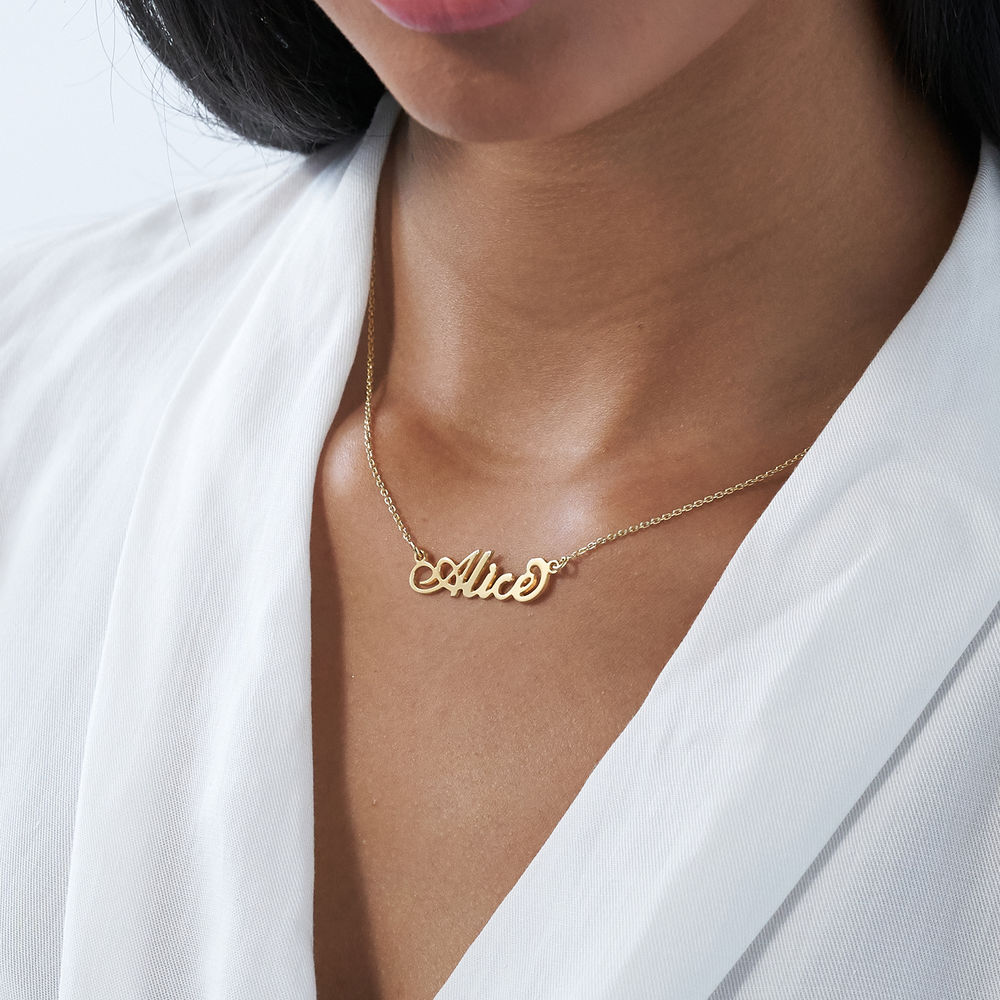 "Collar pequeño con nombre estilo ""Carrie"" en oro Vermeil - 2"