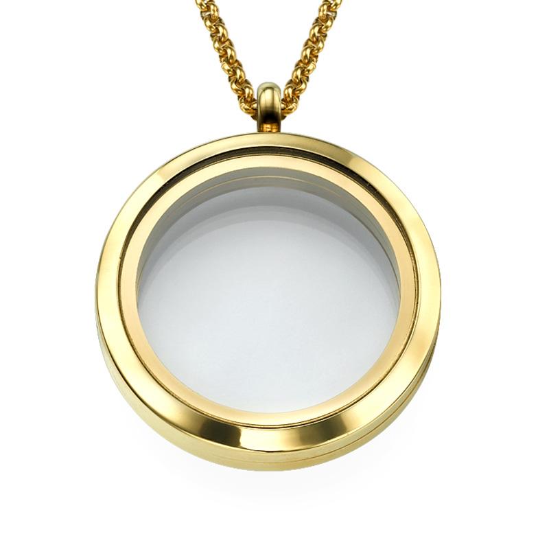 Medallón Redondo Chapado en Oro