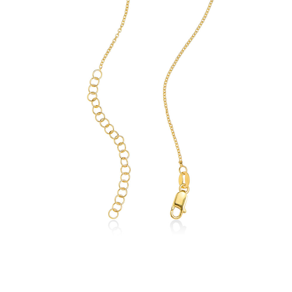 Collar corazón con de escritura personalizada chapado en oro vermeil 18k - 1