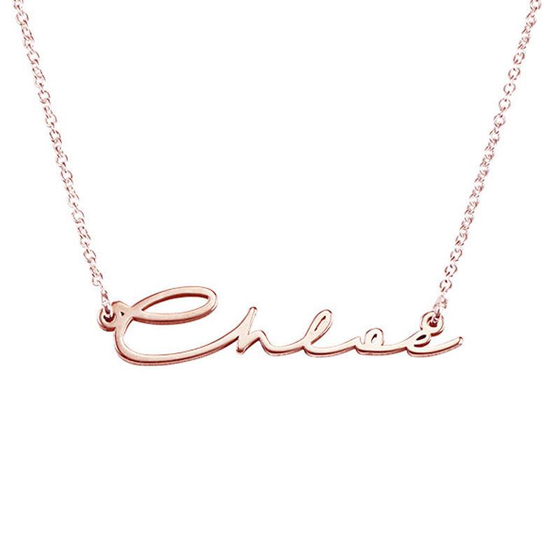 Collar con Nombre en Firma - Chapado en oro rosa - 3