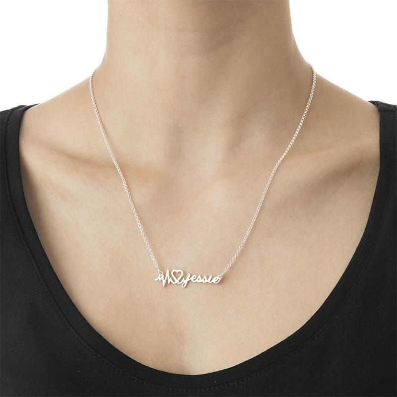 Collar Latido de Corazón Personalizado con Nombre - 2