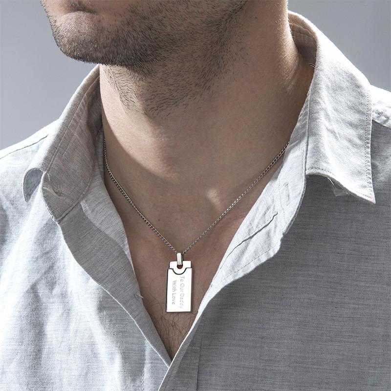 Collar de placa de identidad para hombre - 1