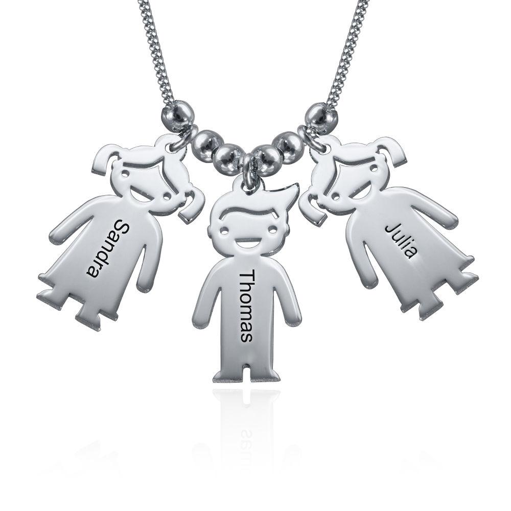 Collar Niño/ Niña en Plata Personalizado para la Mamá - 1