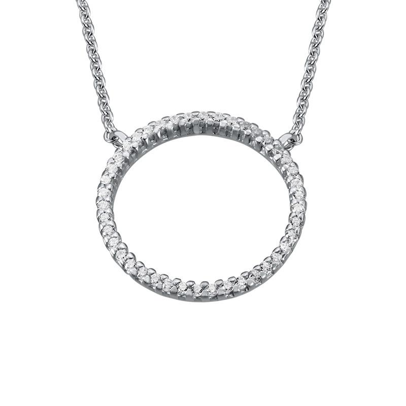 Collar círculo de eternidad en plata esterlina y circonia cúbica