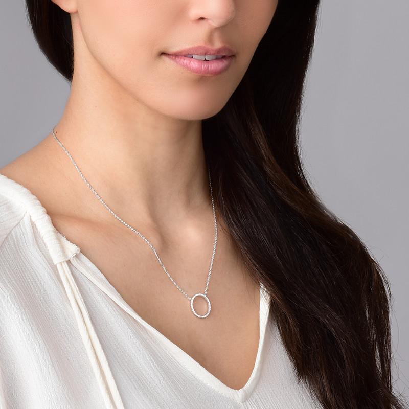 Collar círculo de eternidad en plata esterlina y circonia cúbica - 1