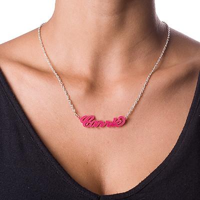 """Collar Clásico """"Carrie"""" con Nombre en Acrílico - 2"""