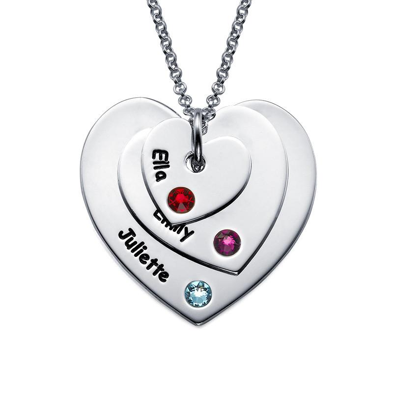 Collar de Corazón con Piedras de Nacimiento para Mamá - 1