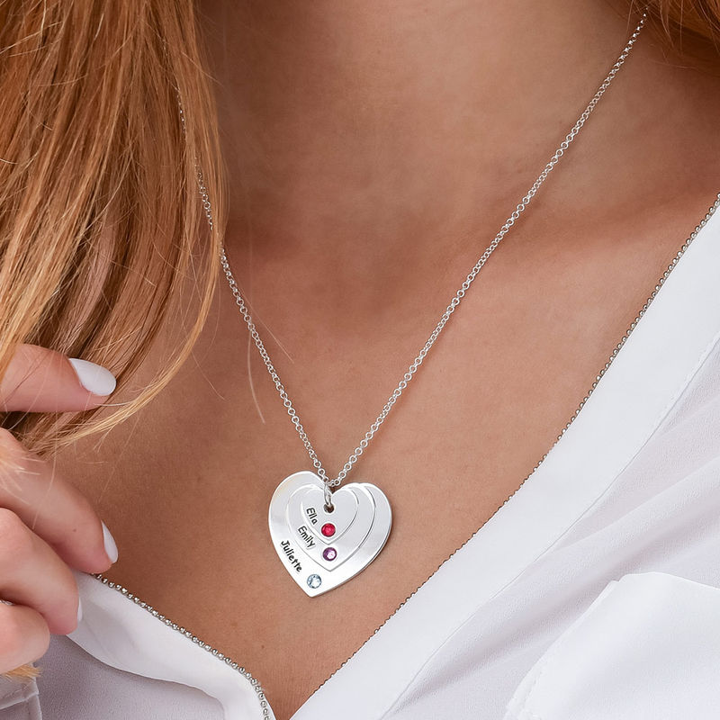 Collar de Corazón con Piedras de Nacimiento para Mamá - 3