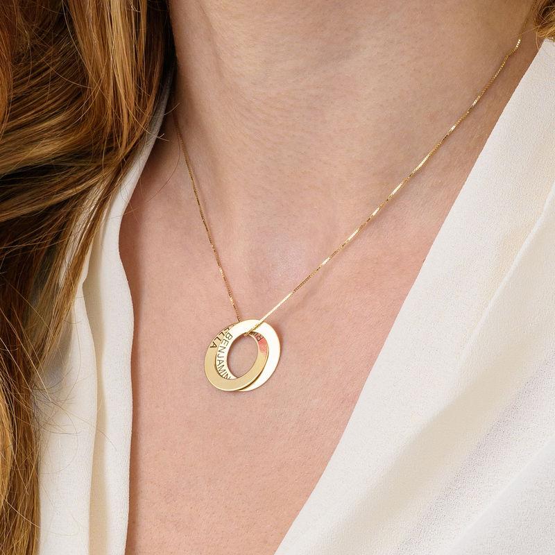 Collar de anillo ruso con dos anillos en plata 925 - 5