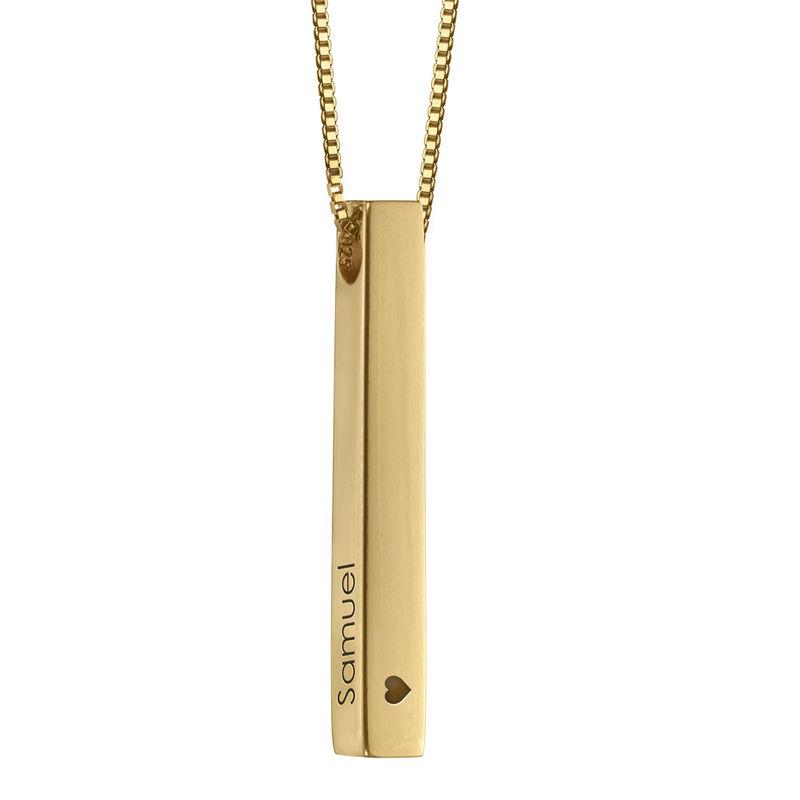 Collar de Barra Grabado 3D Chapado en Oro - 2