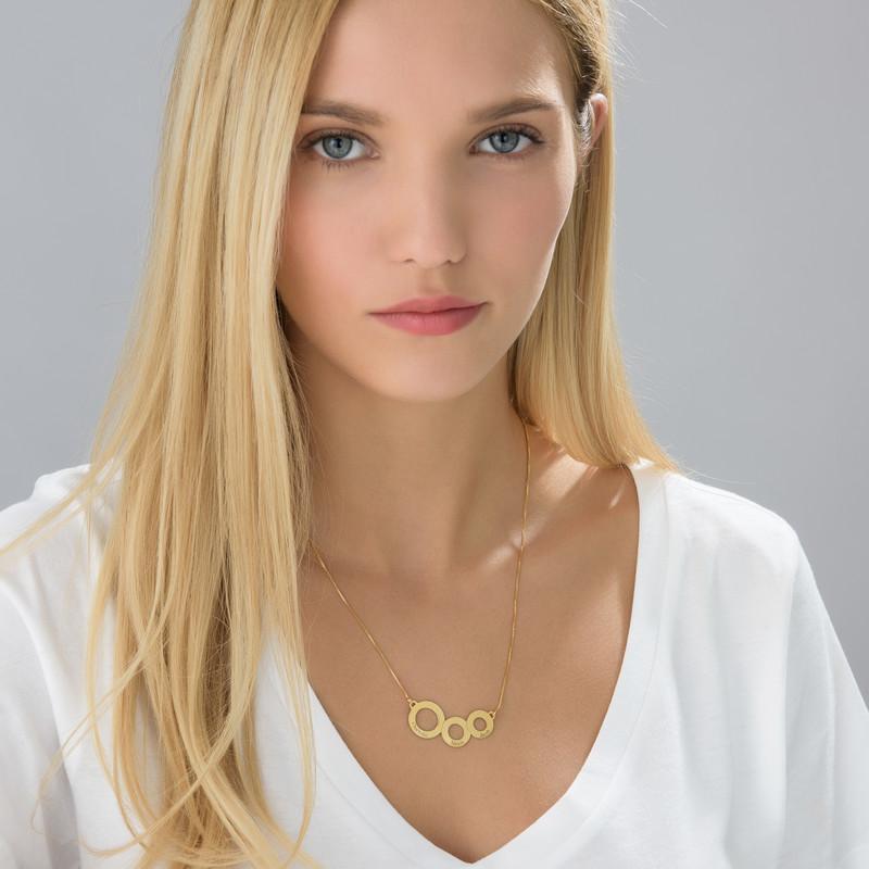 Collar Círculos Grabados Chapado en Oro - 2
