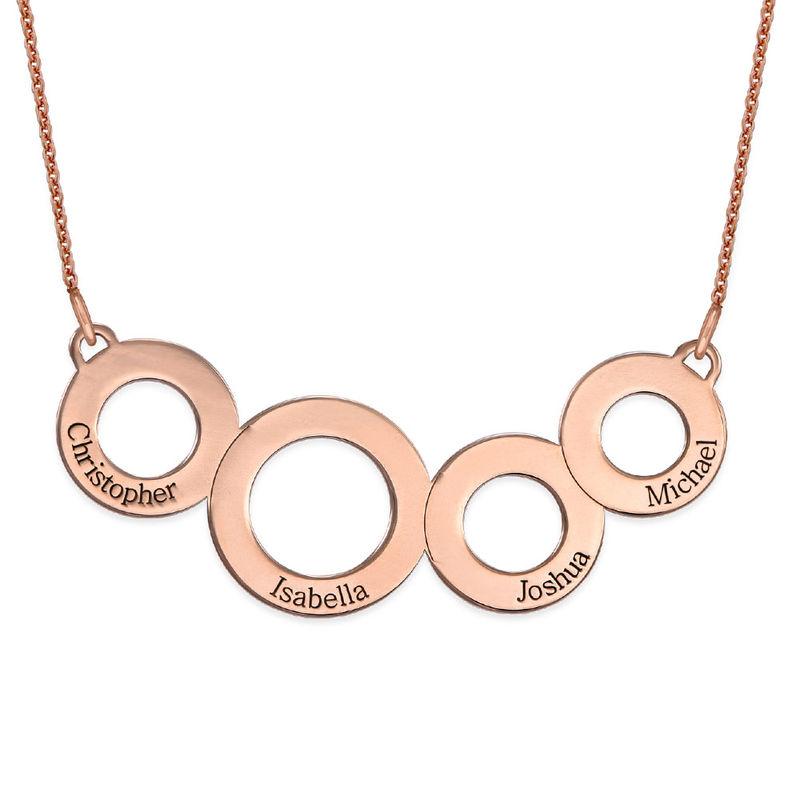 Collar Círculos Grabados Chapado en Oro Rosa