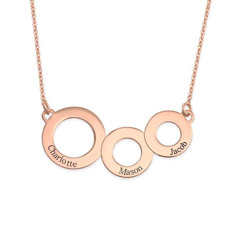 Collar Círculos Grabados Chapado en Oro Rosa - 1