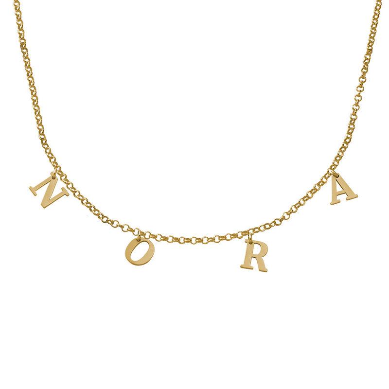 Gargantilla con Nombre chapada en oro de 18K - 1
