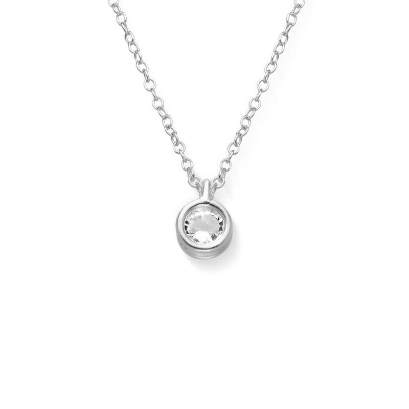 Colgante solitario con circonia cúbica en plata 925