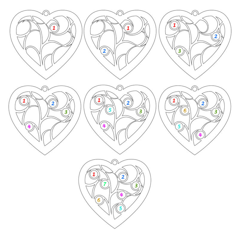 Collar con árbol de la vida en forma de corazón con diamantes chapado en oro rosa - 3
