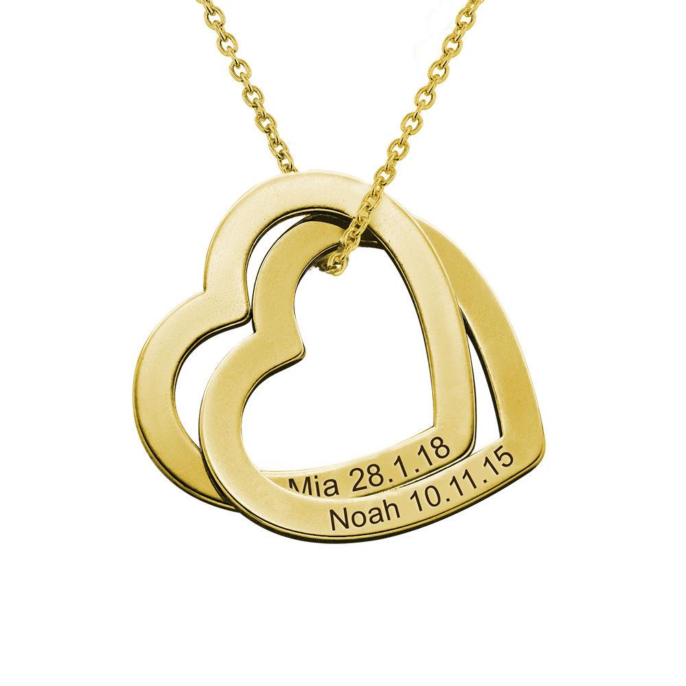 Collar Corazones Entrelazados en Oro Vermeil