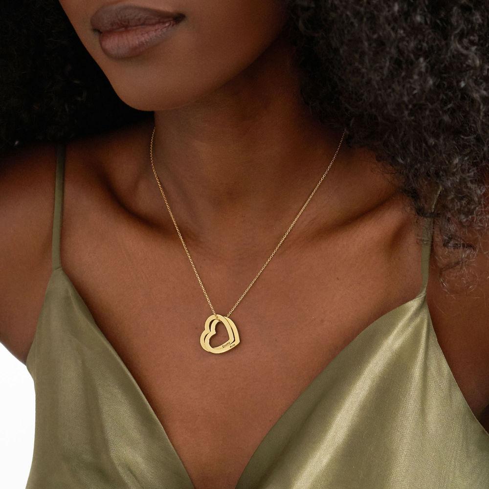 Collar Corazones Entrelazados en Oro Vermeil - 2