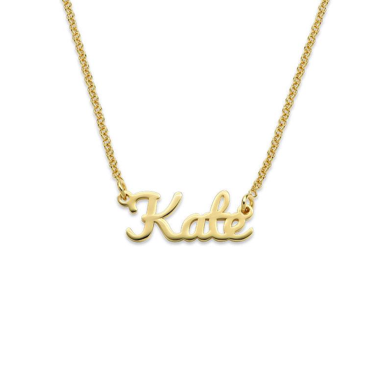Collar con Nombre Caligrafía chapado en oro de 18K - 1