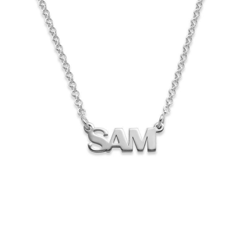 Collar con Nombre en Letras Mayúsculas en plata de ley