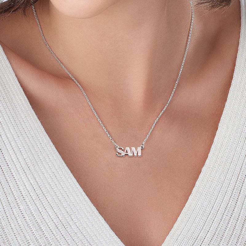 Collar con Nombre en Letras Mayúsculas en plata de ley - 2