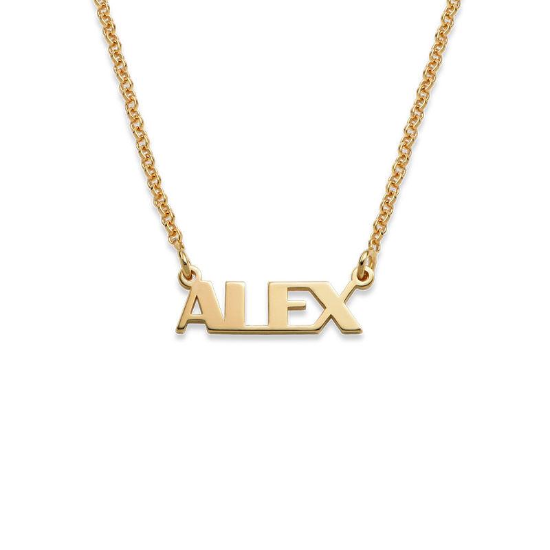 Collar con Nombre en Letras Mayúsculas chapado en oro de 18K