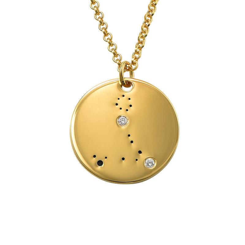 Collar Constelación de Piscis con Diamantes Chapado en Oro