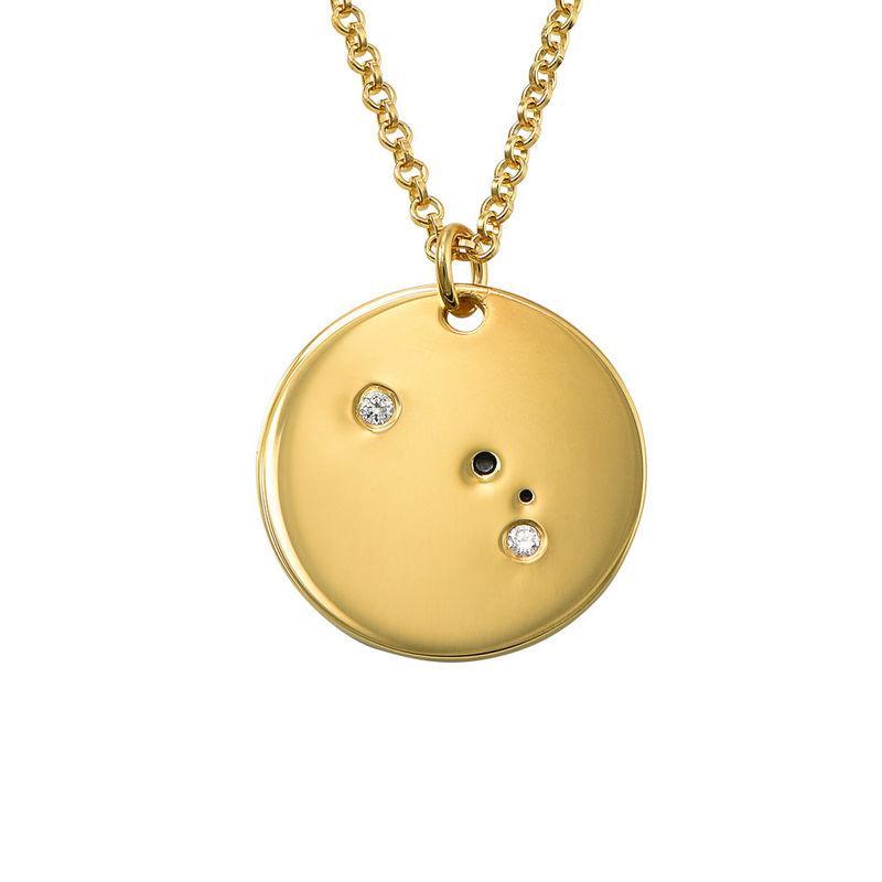 Collar Constelación de Aries con Diamantes Chapado en Oro