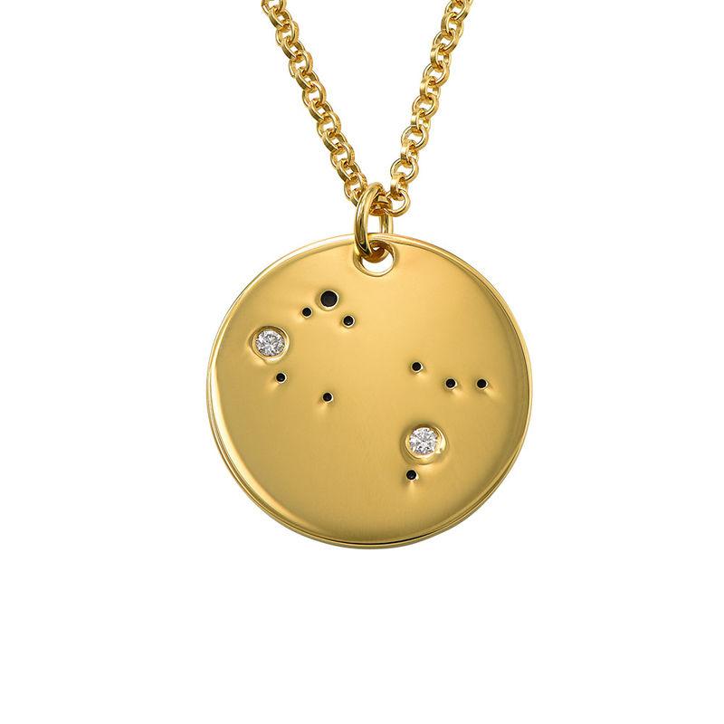 Collar Constelación de Géminis con Diamantes Chapado en Oro