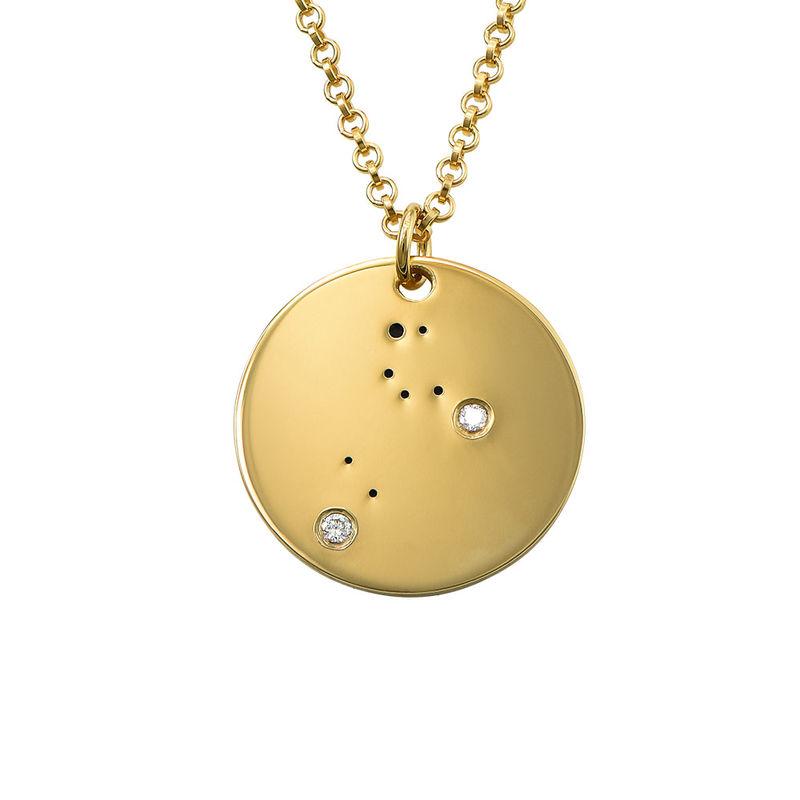 Collar Constelación de Leo con Diamantes Chapado en Oro