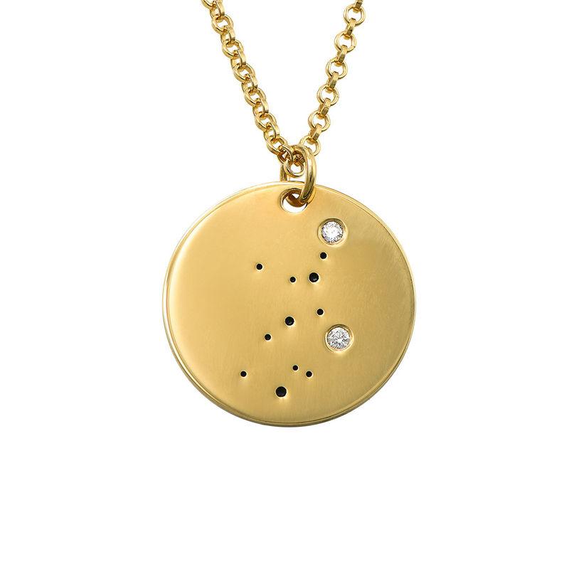 Collar Constelación de Virgo con Diamantes Chapado en Oro