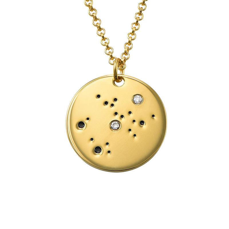 Collar Constelación de Sagitario con Diamantes Chapado en Oro