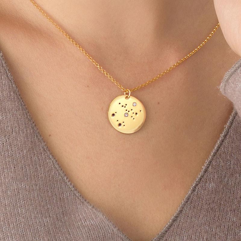 Collar Constelación de Sagitario con Diamantes Chapado en Oro - 2