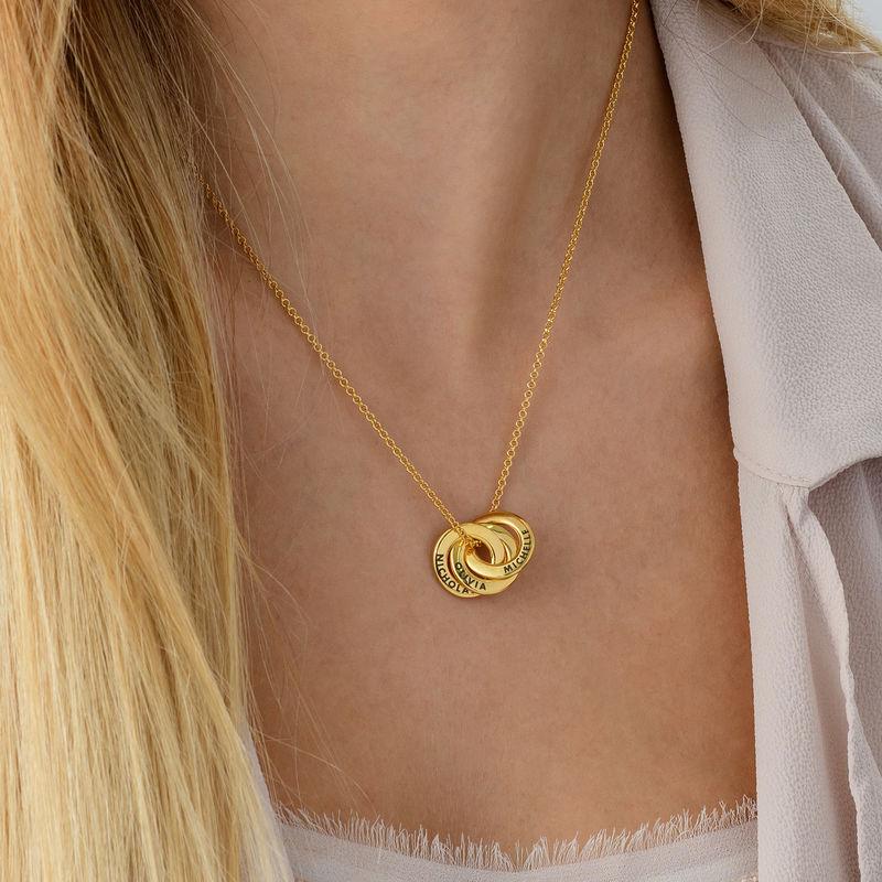 Collar anillo ruso chapado en oro - diseño mini - 2