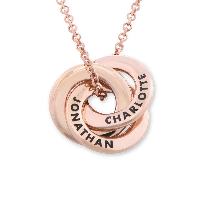 Collar anillo ruso chapado en oro rosa - diseño mini