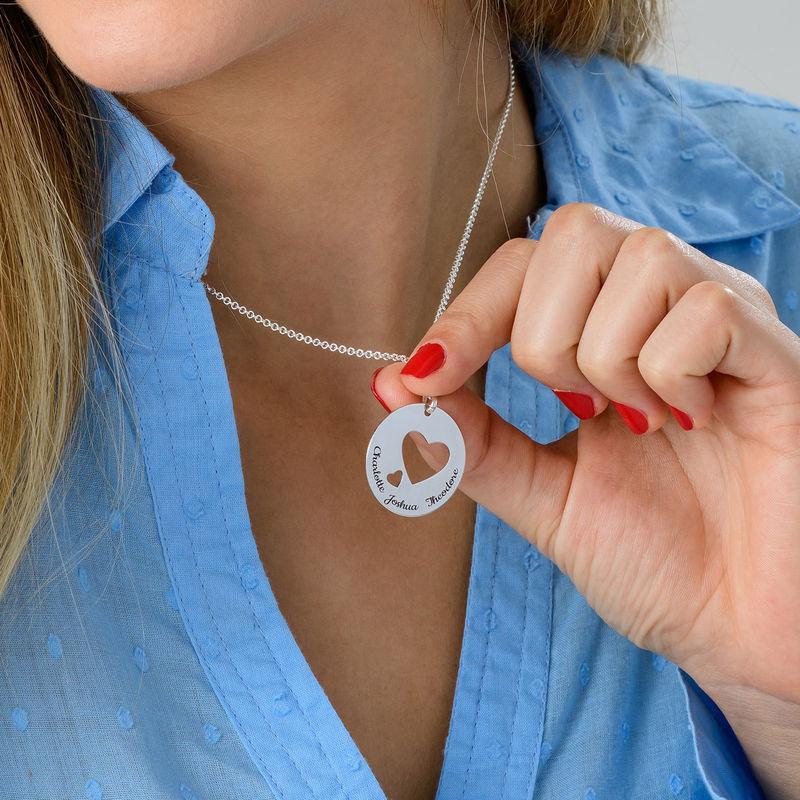 Collar círculo de amor en plata - 4