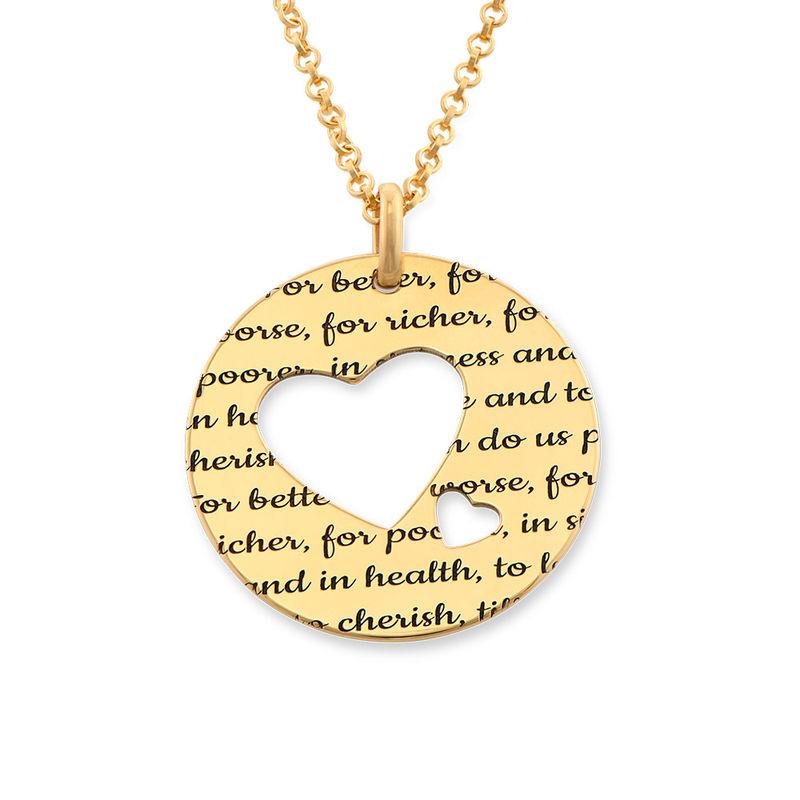 Collar círculo de amor chapado en oro