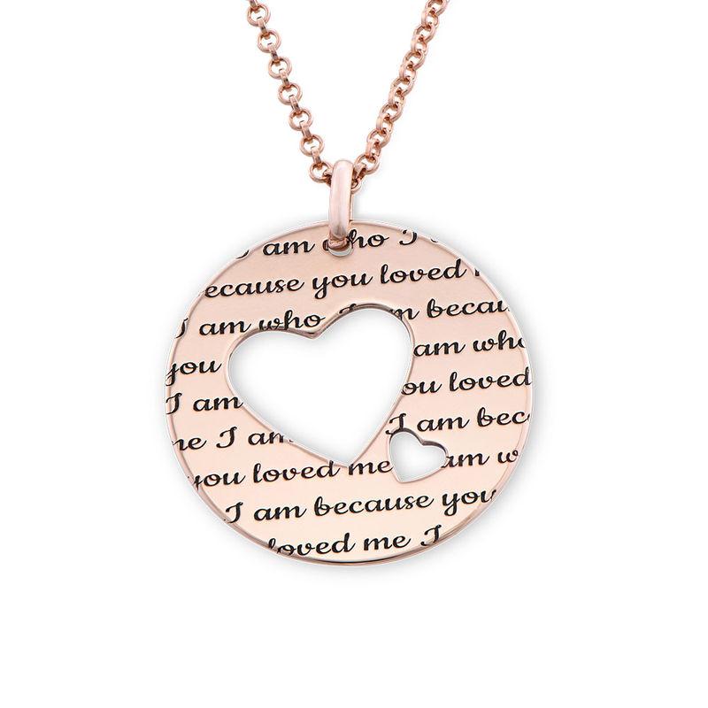 Collar círculo de amor chapado en oro rosa
