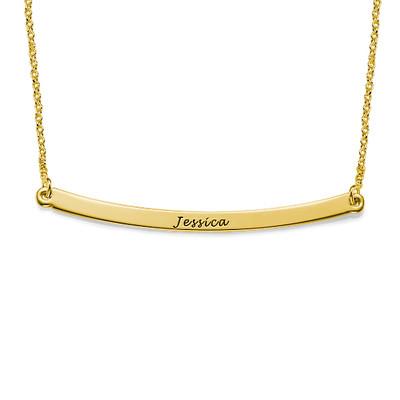 Collar de barra curvado personalizado en chapa de oro de 18K