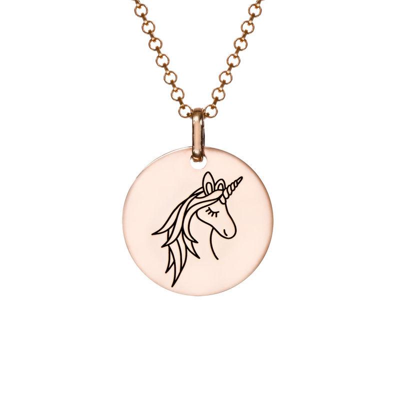 Collar Unicornio chapado en oro rosa