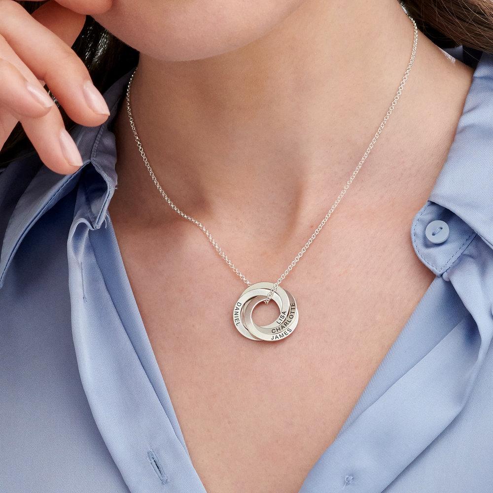 Collar de anillo ruso con cuatro anillos en plata 925 - 2