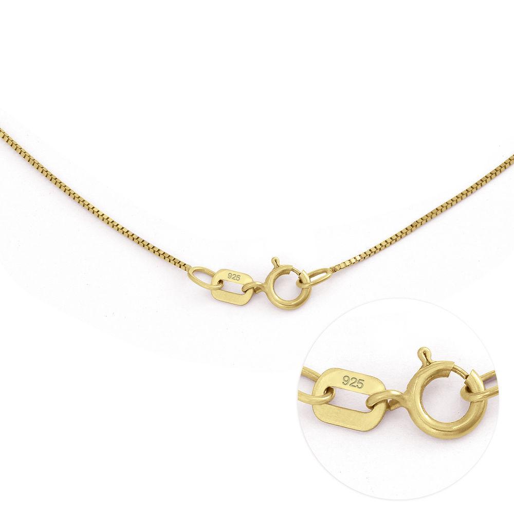 Linda Collar con colgante circular con hoja y perlas personalizadas™ Chapado en Oro 18K - 7
