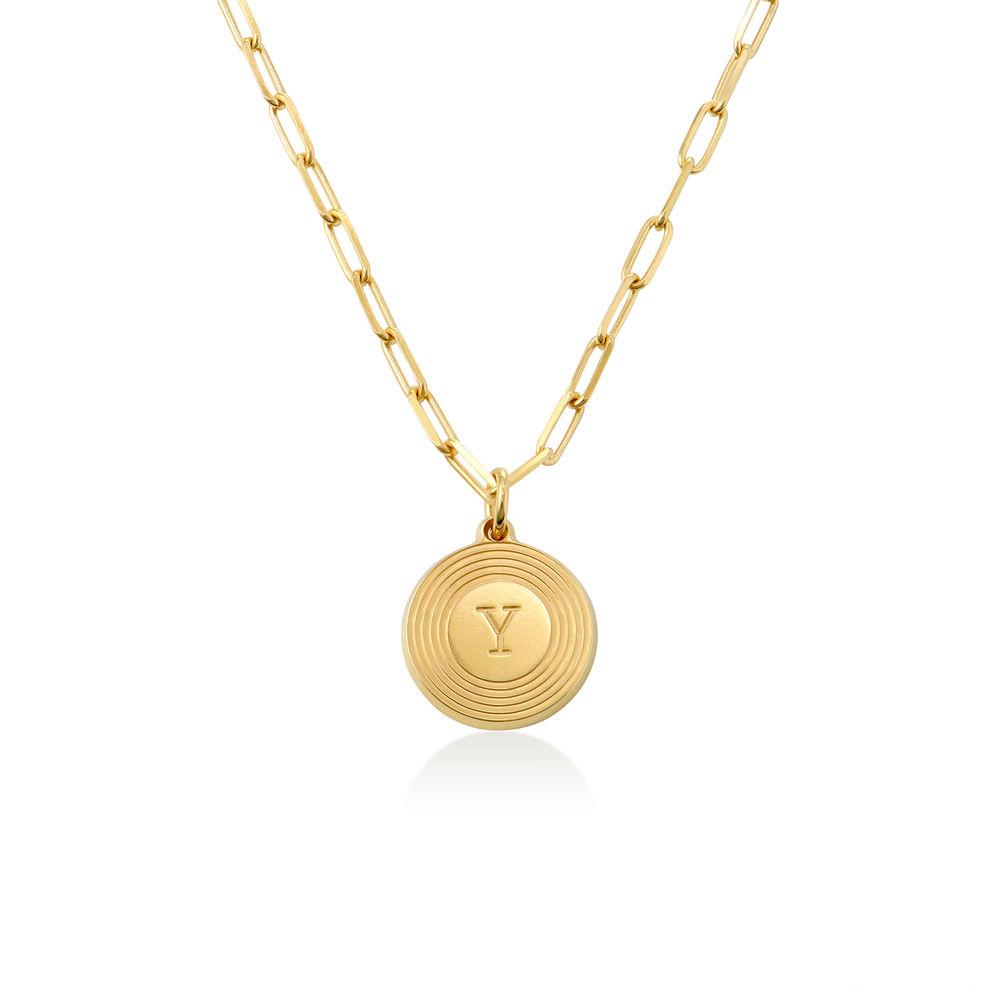 Collar inicial Odeion en chapado de oro de 18k