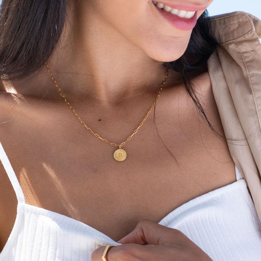 Collar inicial Odeion en chapado de oro vermeil 18k - 1