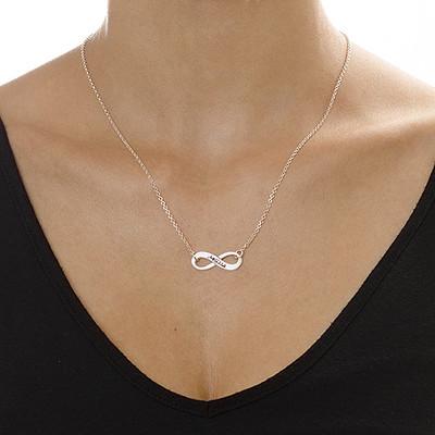 Collar del Infinito Grabado en plata - 1