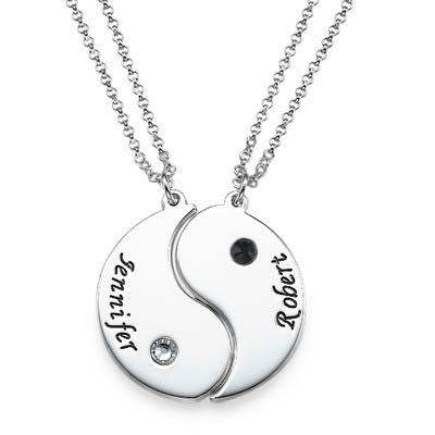 Collar Yin Yang Grabado para Parejas - 1